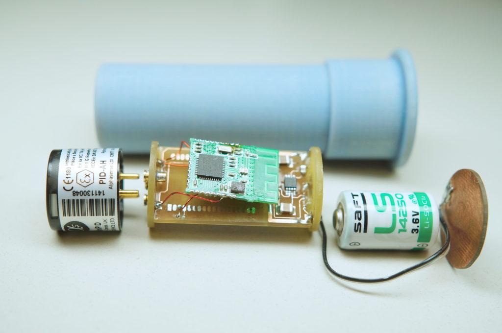 Detail senzorické jednotky Bodyware-1 pro měření koncentrace škodlivin