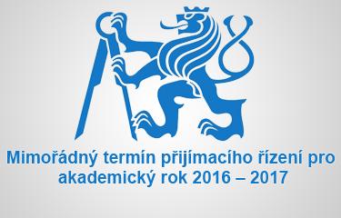 Mimořádný termín přijímacího řízení pro akademický rok 2016 – 2017